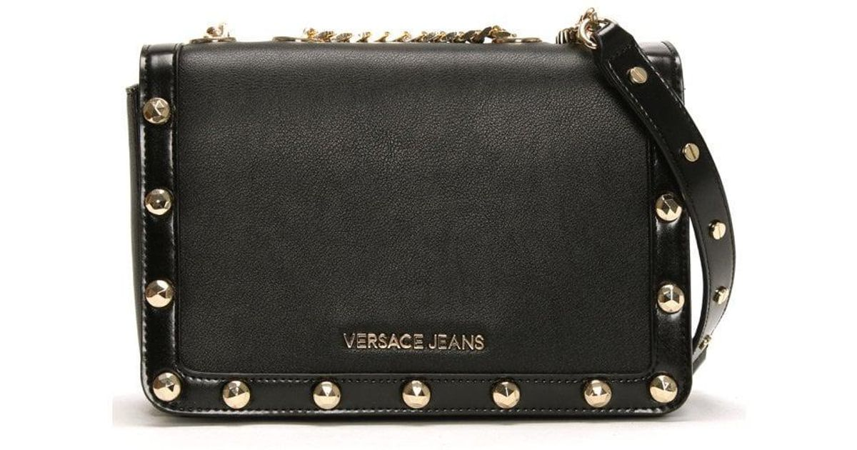 Lyst - Versace Jeans Array Medium Black Cross-body Bag in Black a07468a228b36