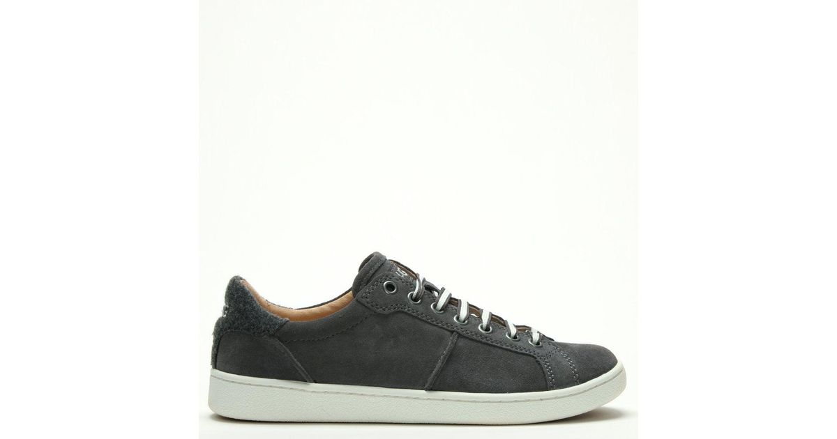 61619490202 Ugg - Gray Milo Charcoal Suede Lace Up Trainers - Lyst
