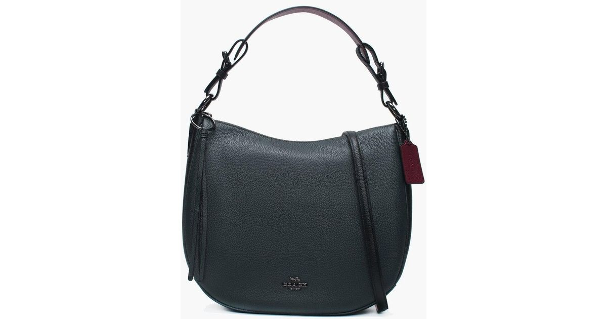 0472c1a8d9fed0 COACH Sutton Cypress Multi Leather Hobo Bag in Black - Lyst