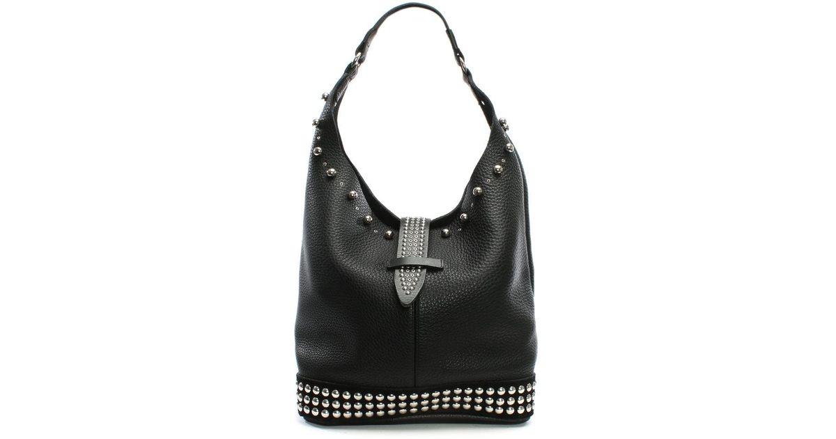 Studded Leather In Lyst Nanni Milano Bag Black Portofino Shoulder xwxXpqO