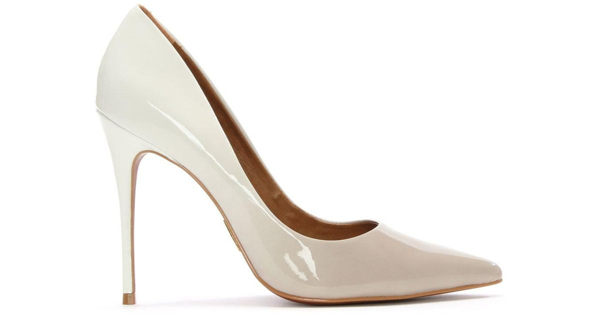 ce85548a342e Lyst - Moda In Pelle Cristina Ombre White Patent Court Shoe in White