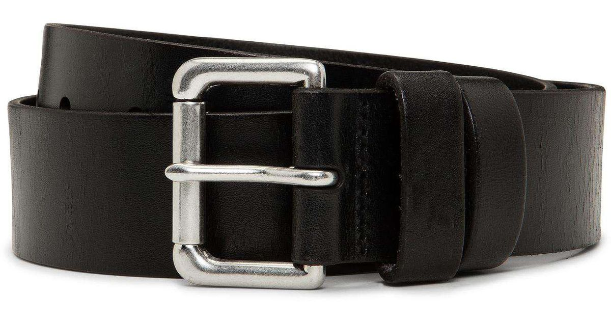 Polo Ralph Lauren Saddle Patch Leather Double Keeper Jean Belt In
