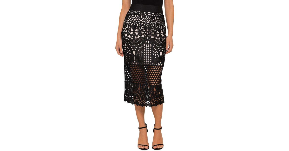 20fb3bb00634c3 Ted Baker Neoma Lace Pencil Skirt in Black - Lyst