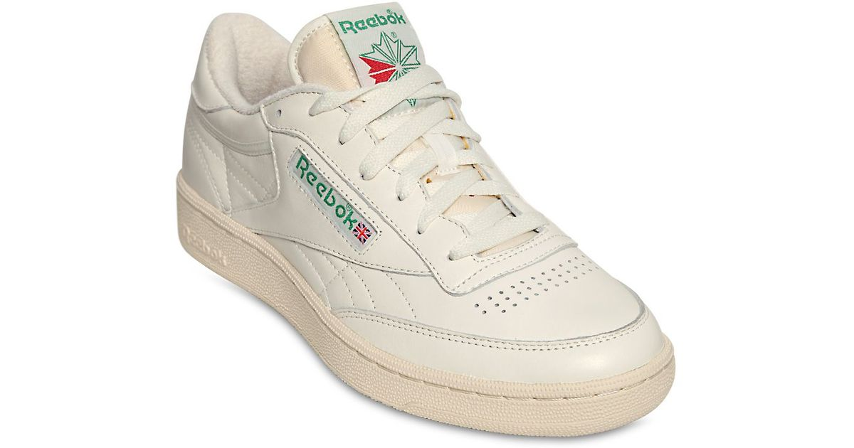 0a14d86b740 Lyst - Reebok Club C 85 Vintage Leather Low-Top Sneakers in White for Men
