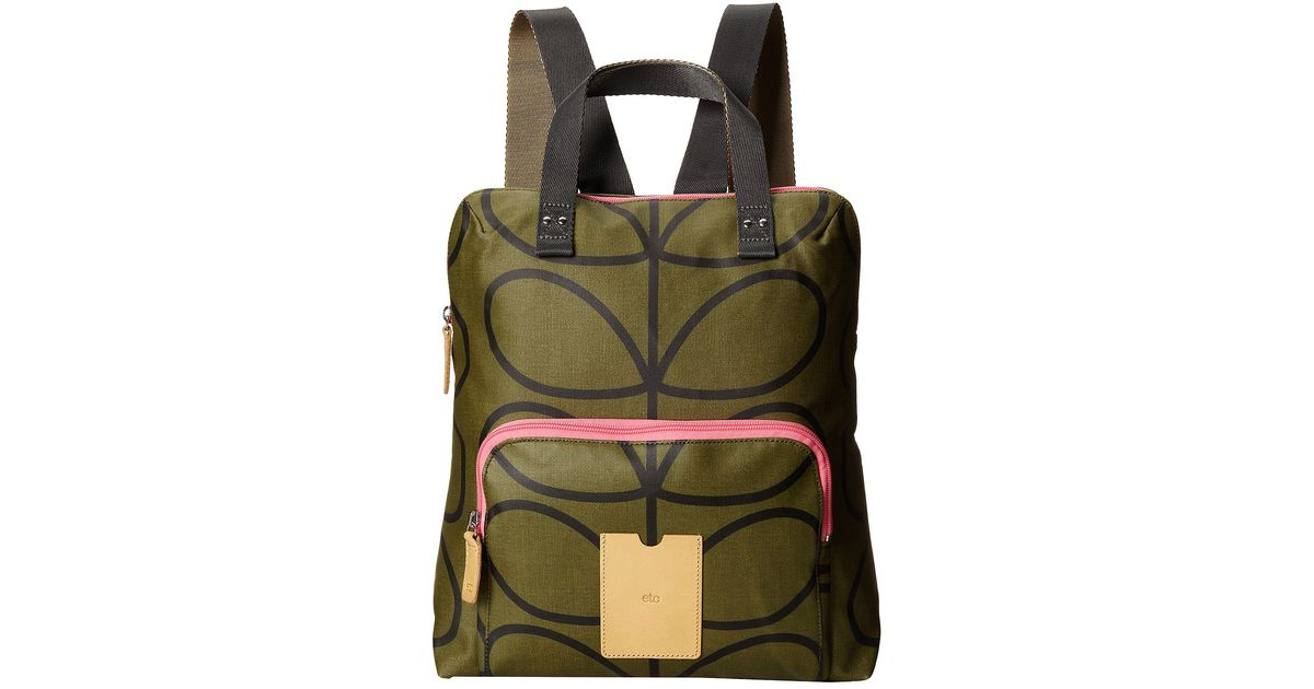 Lyst - Orla Kiely Giant Linear Stem Backpack Tote in Green d7c8046b84ee6