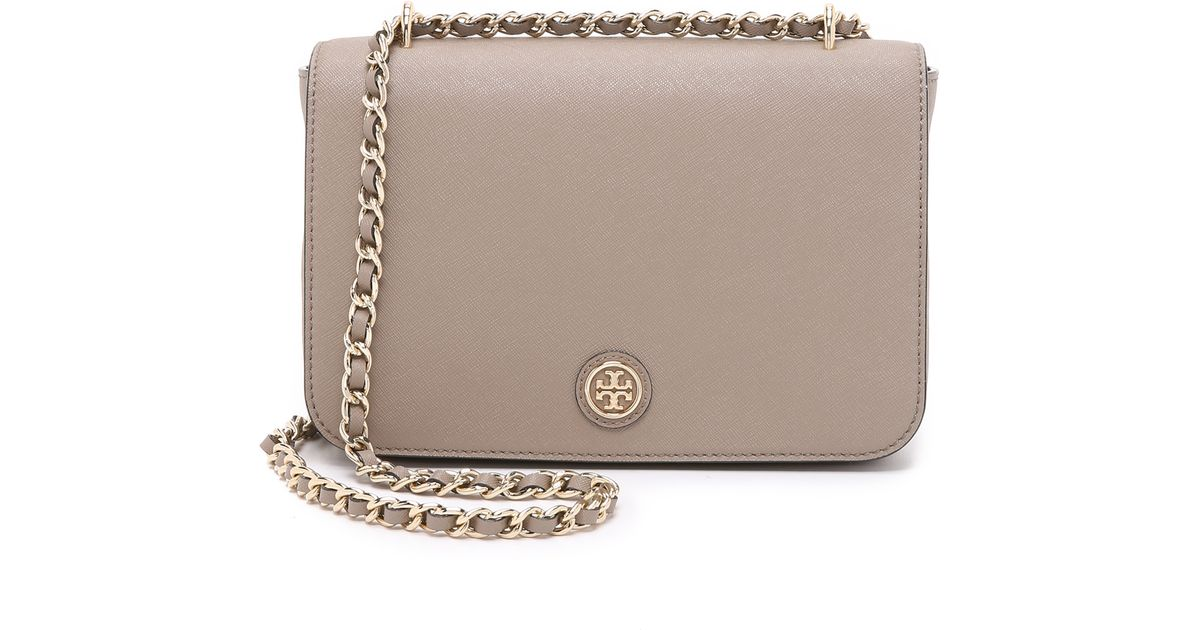 baf1433192a4 ... coupon for lyst tory burch robinson adjustable shoulder bag french gray  in gray ebd4f ae575