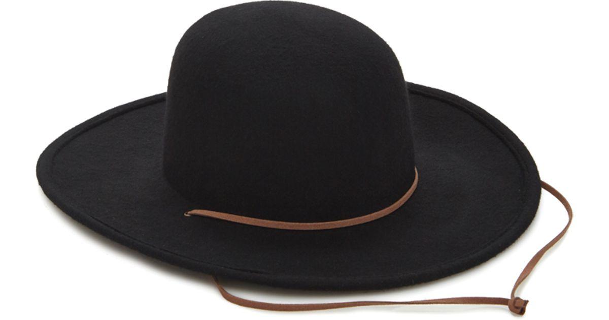Lyst - Forever 21 Men Wide-brim Wool Hat in Black f9b7ee5e6e3