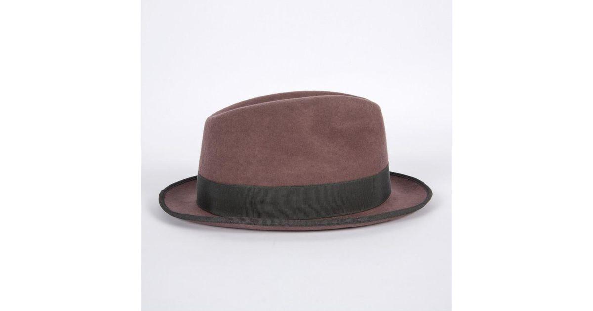 0e70f15ee499e Paul Smith By Christys  Men s Dark Mauve Wool Trilby Hat in Purple for Men  - Lyst