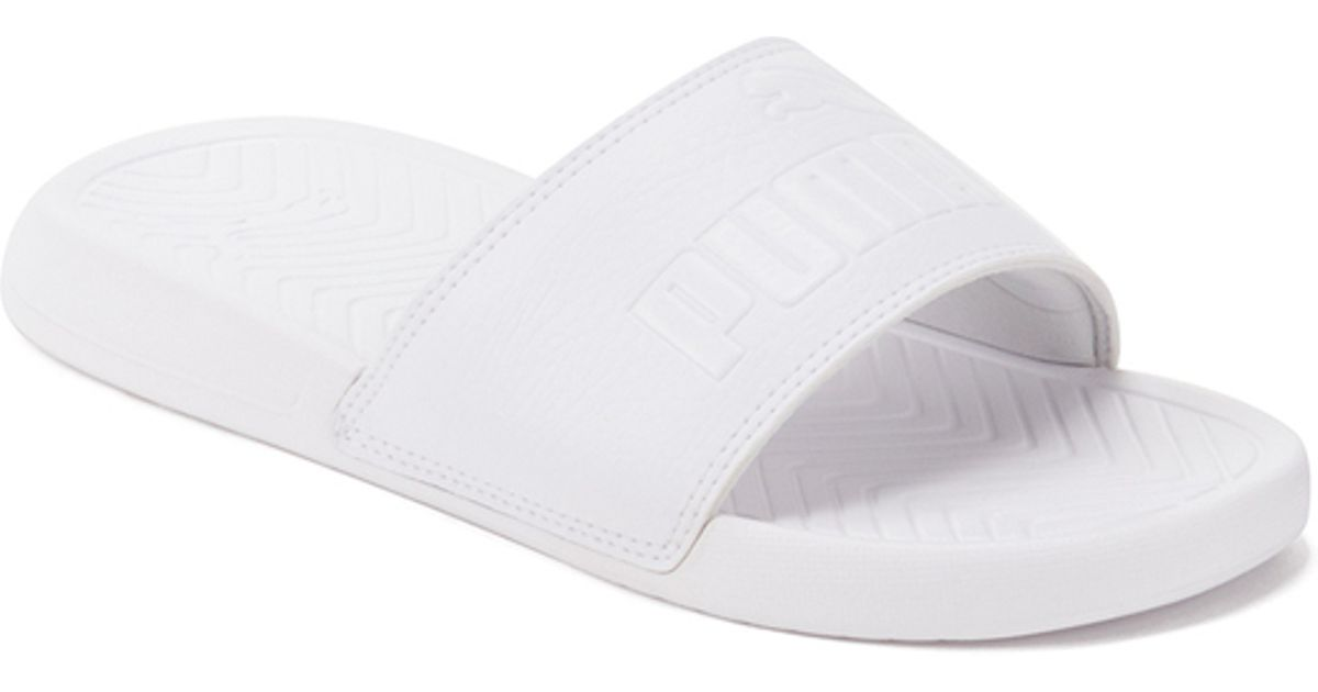 fcddafeeeecd0e PUMA Popcat Slide Sandals in White for Men - Lyst