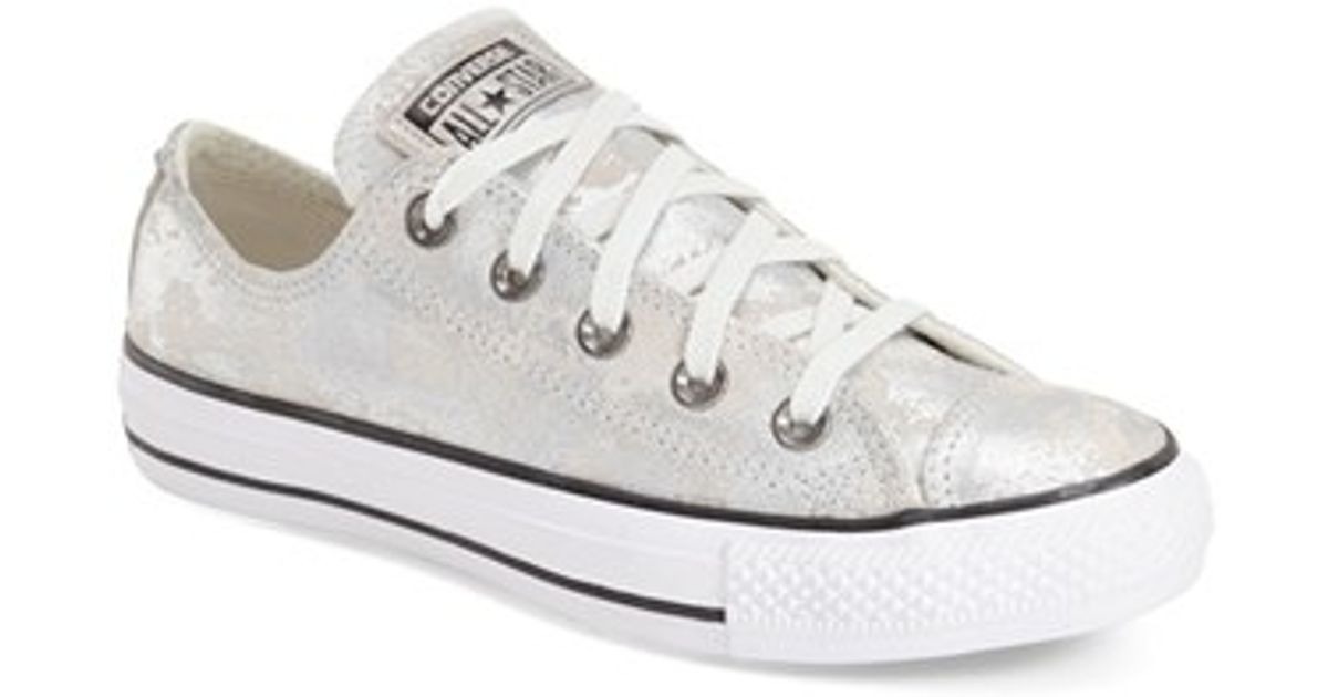 555e47f77a0aad Lyst - Converse Chuck Taylor All Star  pyramid  Leather Sneaker in Metallic