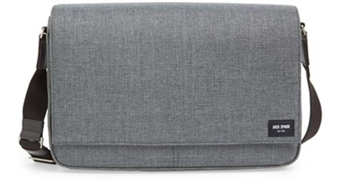 Lyst Jack Spade Tech Oxford Water Resistant Messenger Bag In Gray For Men