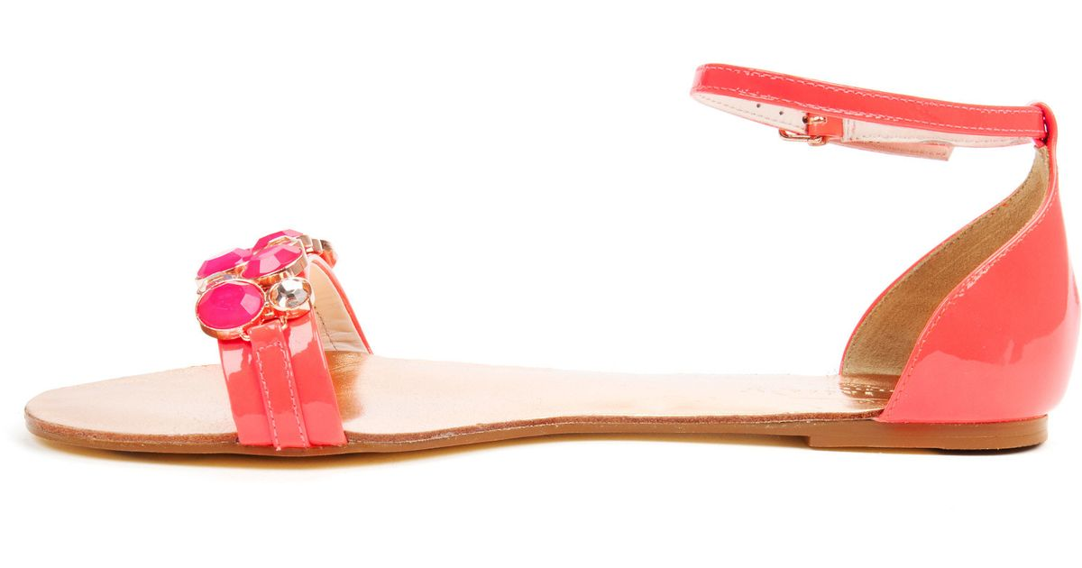 a628d05e1 Ted Baker Jewel Front Sandal in Pink - Lyst