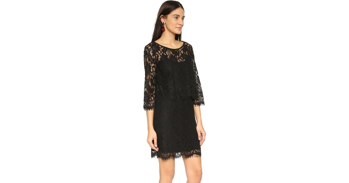 06c9d6d7f5e48 Lyst - Ella Moss Patchwork Floral Dress in Black
