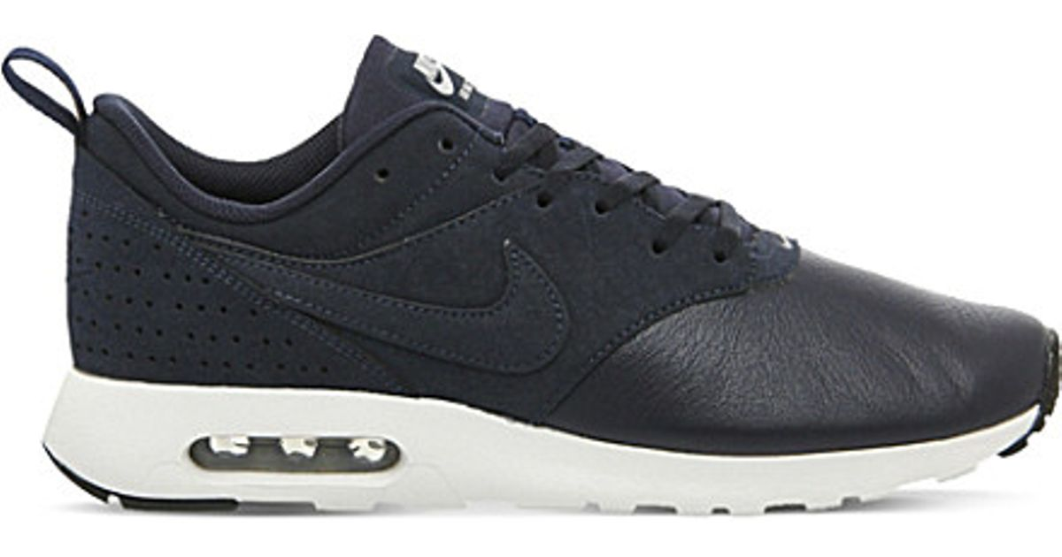 timeless design f72cd 3707e ... where to buy lyst nike air max tavas leather trainers in black for men  b4d33 47c9a