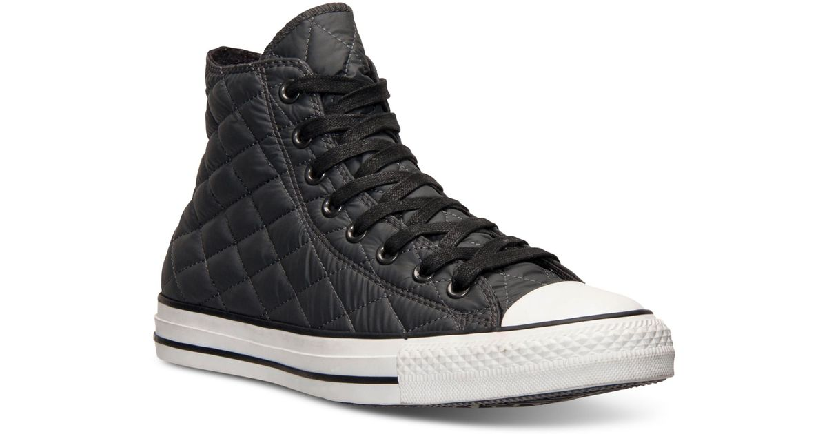 96109248f702 Lyst - Converse Men s Chuck Taylor All Star Hi Quilted Casual Sneakers From  Finish Line in Black for Men
