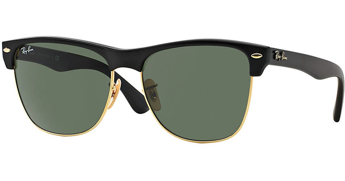 Ray-ban 57mm Oversized Clubmaster Sunglasses in Black for