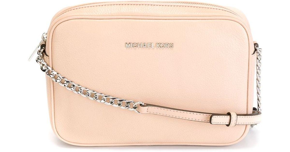 94470888564 MICHAEL Michael Kors Large 'bedford' Crossbody Bag in Natural - Lyst