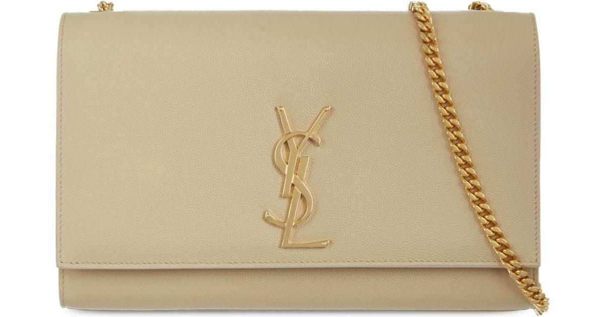 Saint Laurent Medium Chain Clutch Bag - For Women in Natural - Lyst f4299ba57b6f5