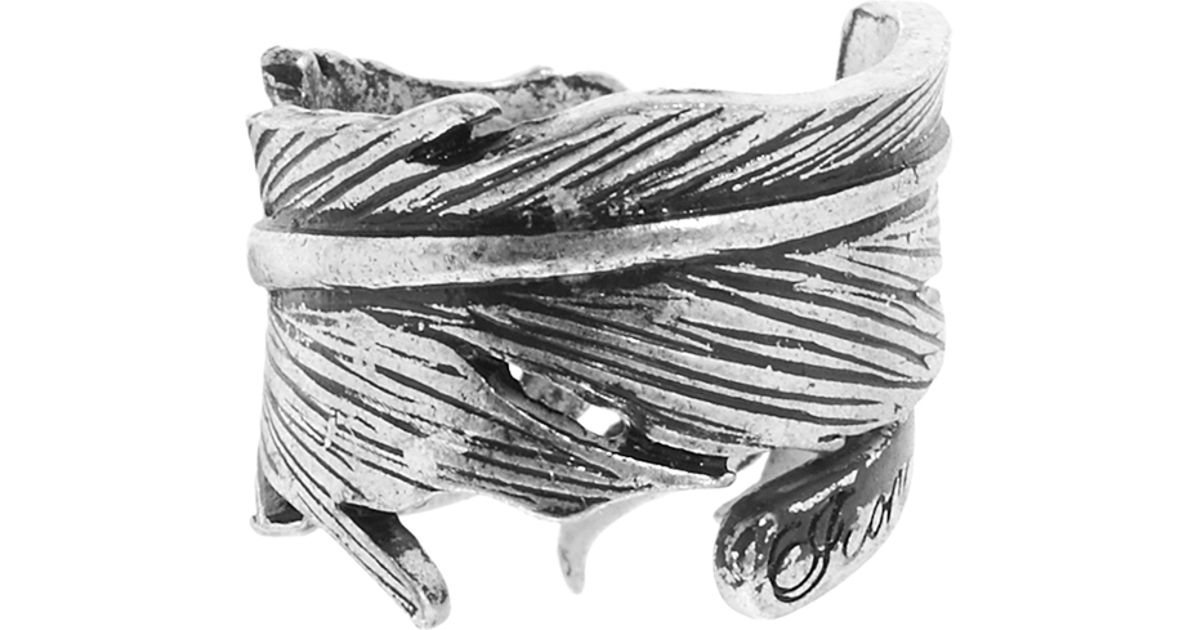 d15870274 Icon Brand Feather Ring in Metallic for Men - Lyst