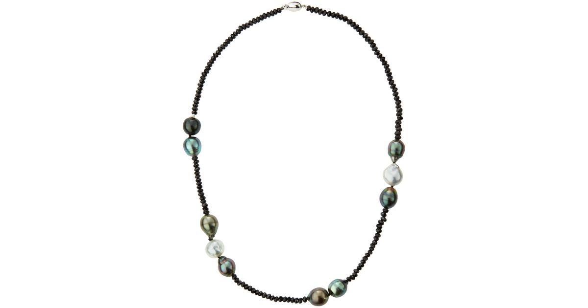 Belpearl Pearl & Spinel Beaded Necklace qUDHJ3O7LL