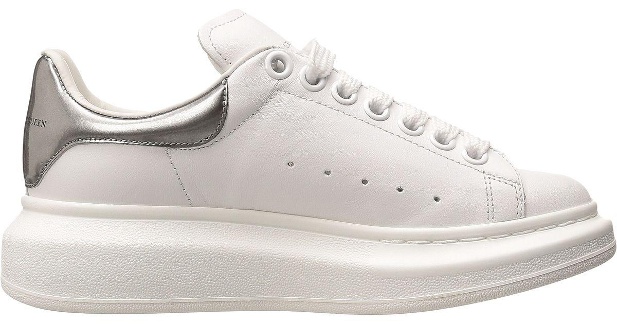 Alexander Mcqueen Sneaker Pelle S Gomma In White White