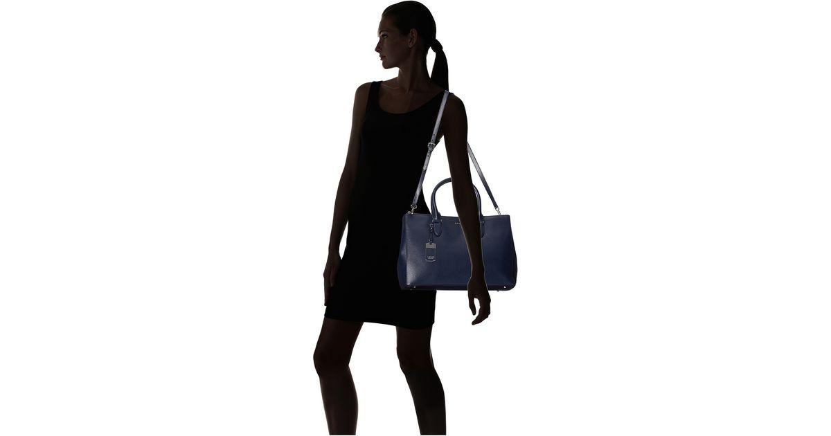 3763208c0a2 Lyst - Lauren By Ralph Lauren Newbury Double Zip Satchel in Blue