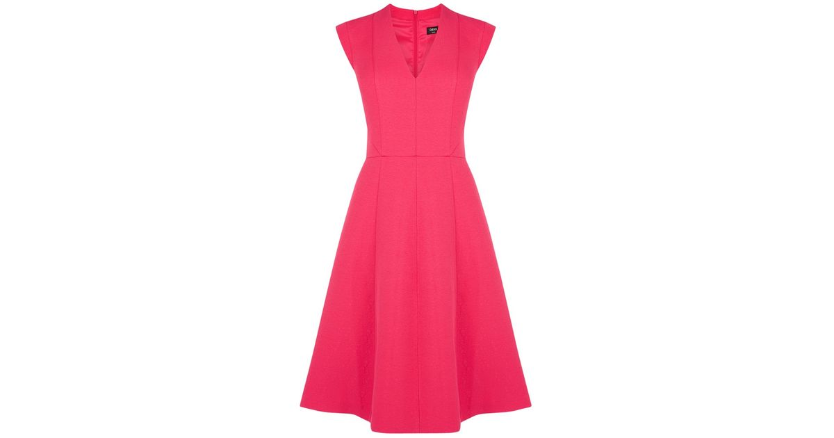 Oasis Jacquard Longer Length Skater Dress - Lyst f9af9a0db4fc