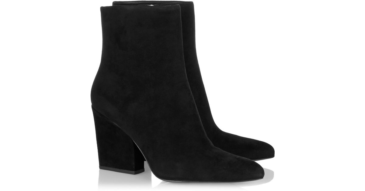 3ce787e02985 Alexander Wang Sunniva Suede Ankle Boots in Black - Lyst