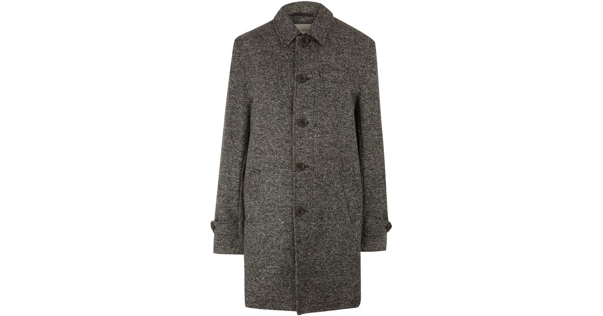 Oliver spencer Charcoal Lightweight Tweed Wool Coat in Gray for ...