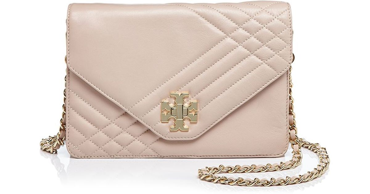 8bf9869c1cf0 Lyst - Tory Burch Kira Quilted Crossbody in Brown