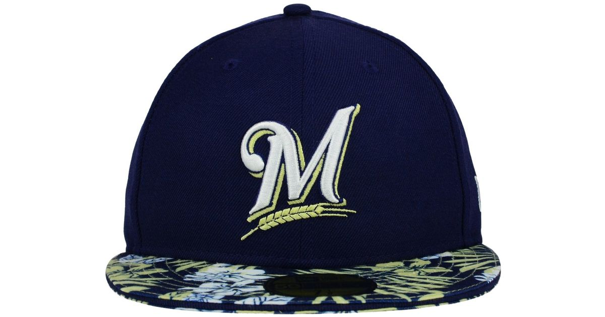Lyst - Ktz Milwaukee Brewers Wowie 59fifty Cap in Blue for Men 2ee1c10c5fb3
