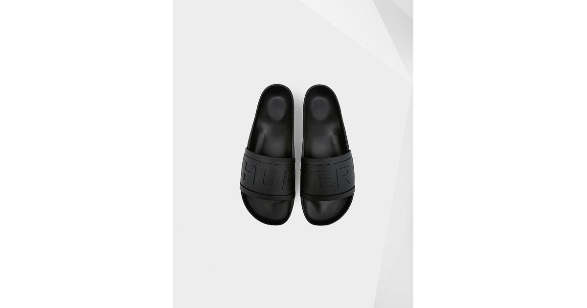 fc67373e615e HUNTER Men s Slides in Black for Men - Lyst