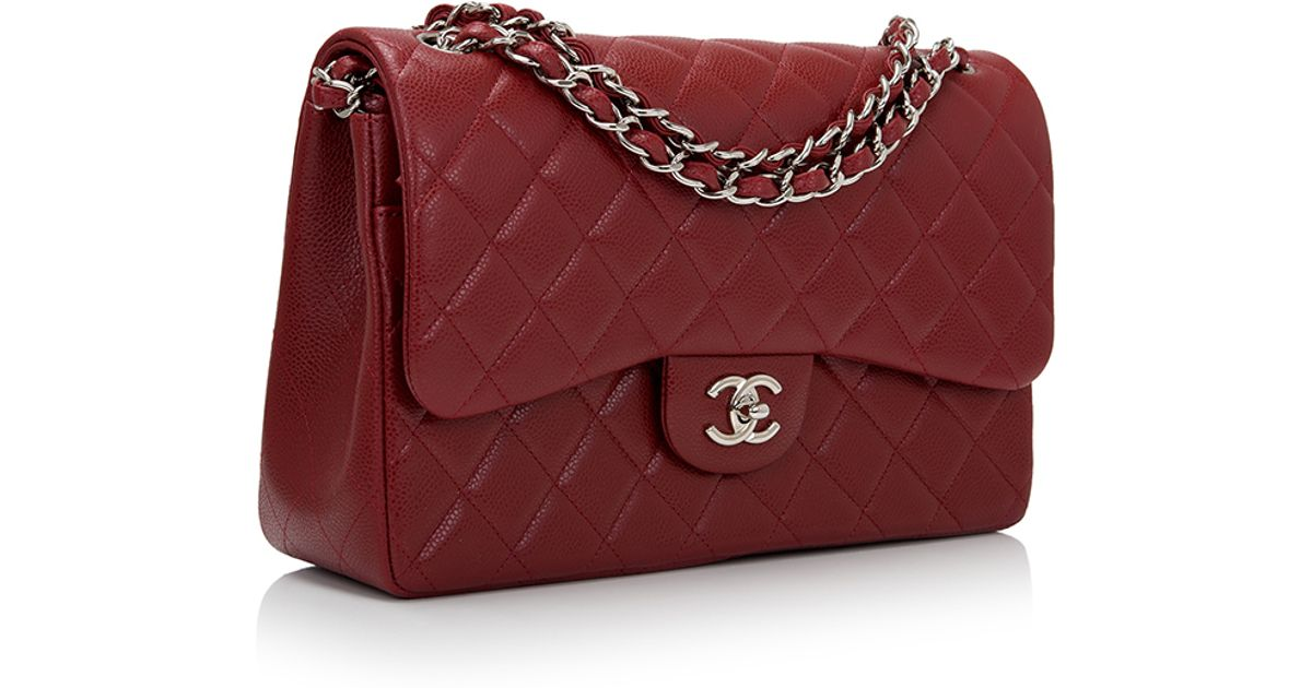 d8b43734e1882f Madison Avenue Couture Chanel Dark Red Quilted Caviar Jumbo Classic Double  Flap Bag in Red - Lyst