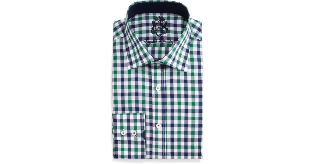 English Laundry Gingham Check Dress Shirt For Men Lyst