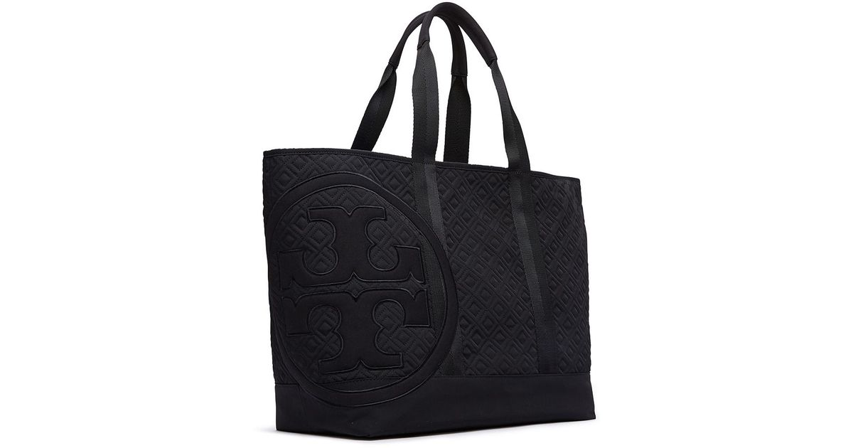 02623e93c3e2 Lyst - Tory Burch Penn Quilted Mid Zip Tote in Black
