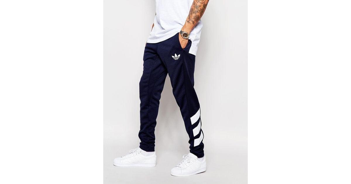 Adidas Originals Skinny Joggers In Blue For Men Lyst