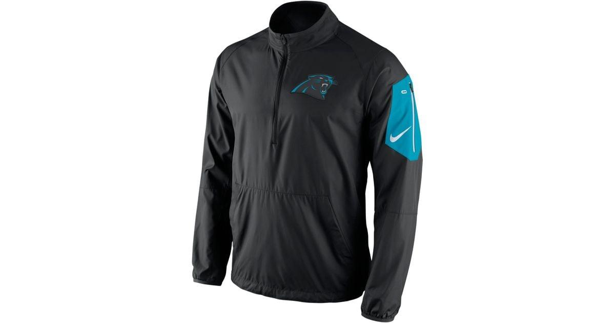 Lyst - Nike Men s Carolina Panthers Lockdown Half-zip Jacket in Black for  Men 345b775f3