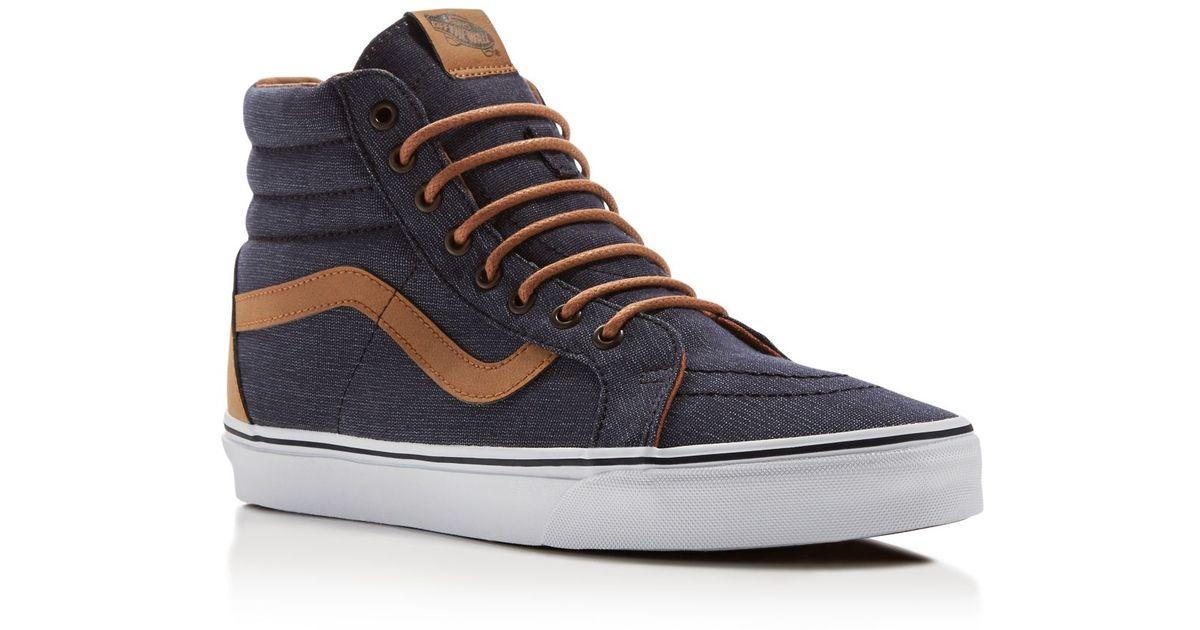 b2730fbcff2061 Lyst - Vans Sk8-hi Reissue High Top Sneakers in Blue for Men