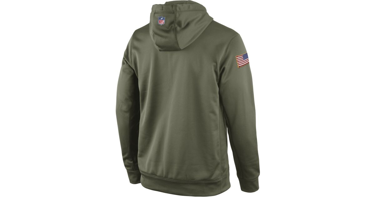 59d4cce0a1b1f Lyst - Nike Men S San Francisco 49Ers Salute To Service Ko Hoodie in Green  for Men