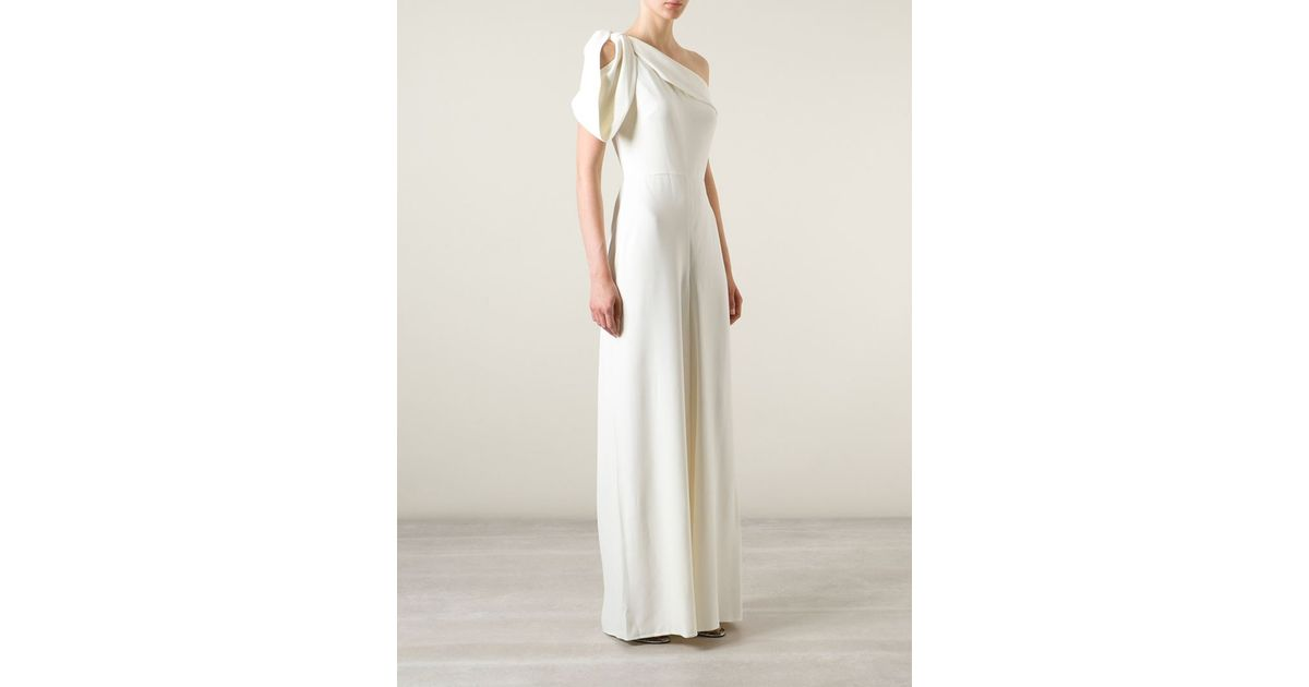 Lyst - Alexander Mcqueen One-Shoulder Evening Gown in White