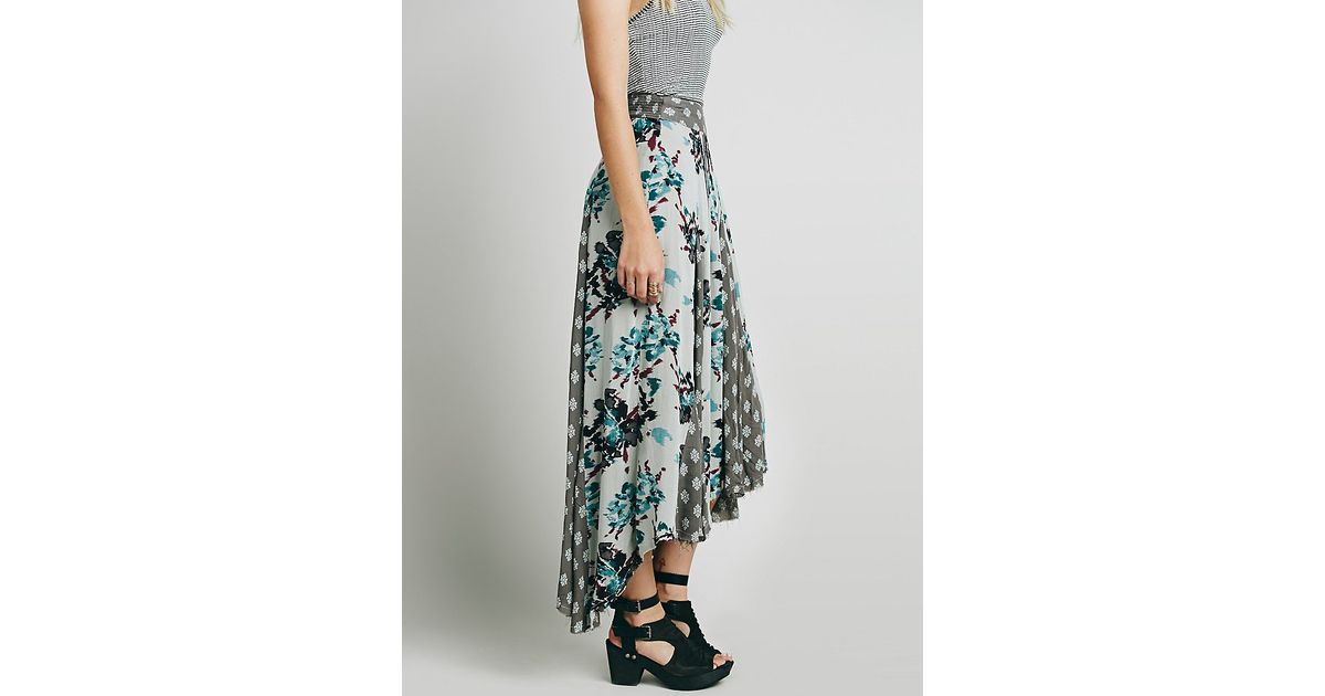 379cb53d7 Free People Show You Off Maxi Skirt in Green - Lyst