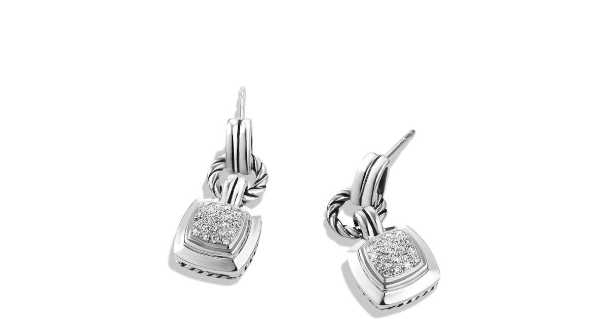 Lyst David Yurman Renaissance Drop Earrings With Diamonds 22 Ct T W In Metallic
