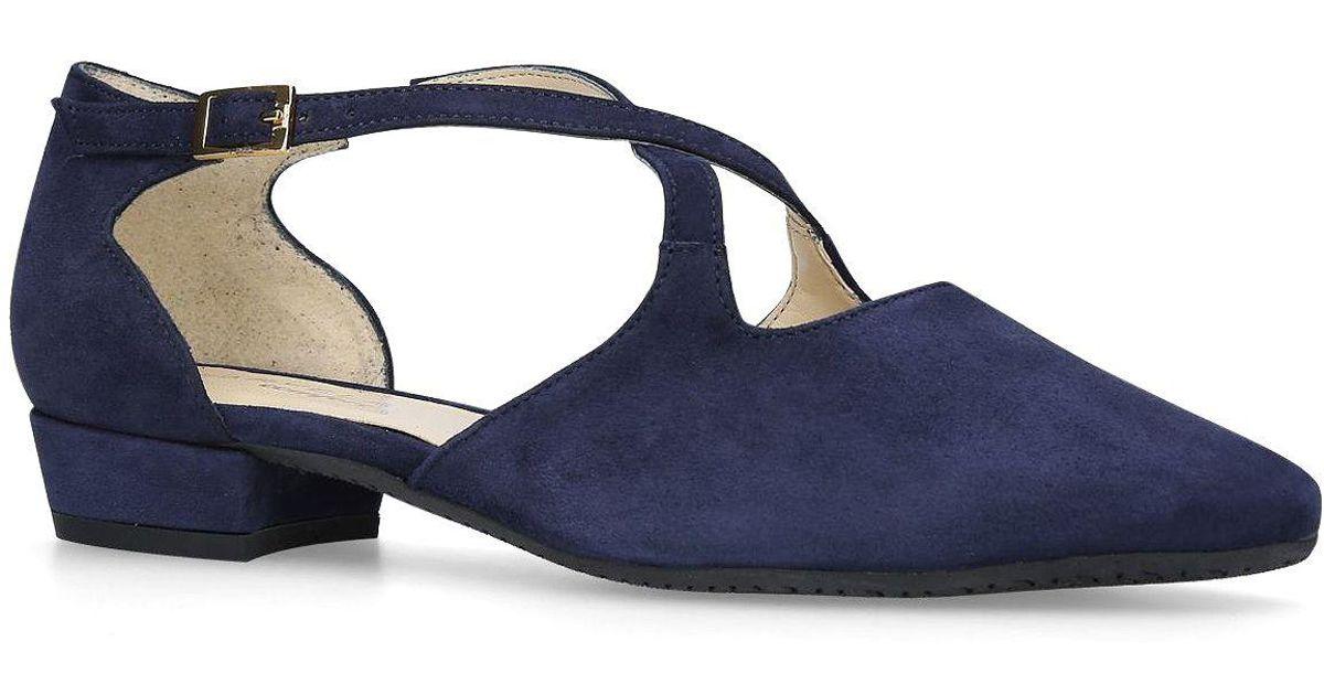 e3cb9189395 Carvela Kurt Geiger Navy  amour  Low Heel Court Shoes in Blue - Lyst