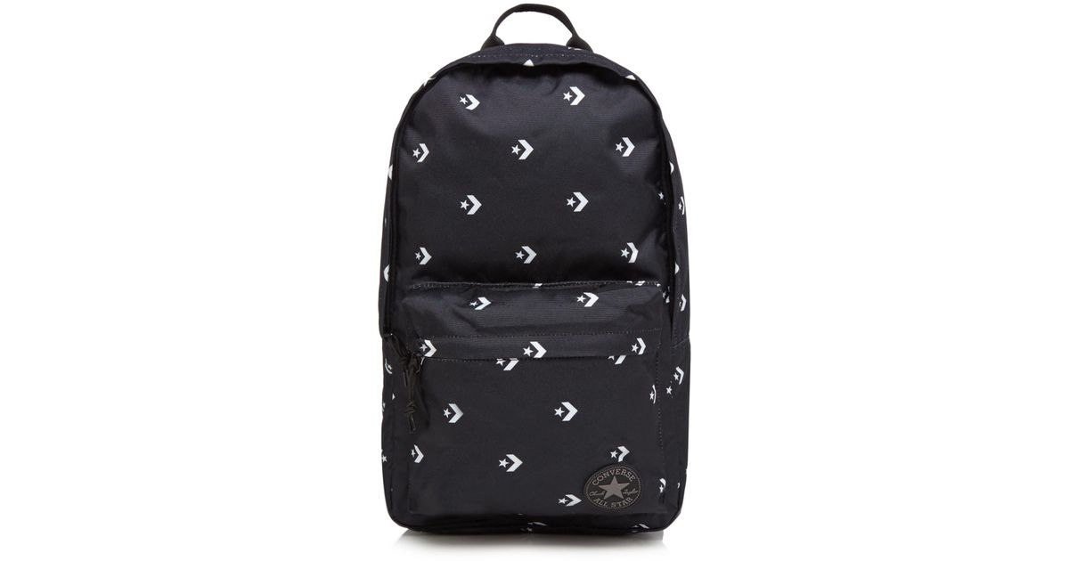 312d930f4904 Converse Black Chevron Star Print Backpack in Black for Men - Lyst