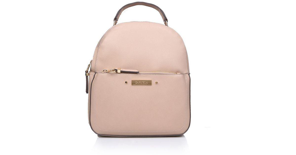 Carvela Kurt Geiger Nude  blake Zip Front Backpack  Backpack Bag in Natural  - Lyst d55913baa6