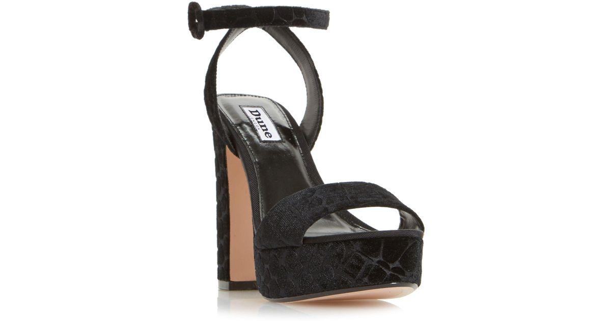 c1d72248c14 Dune Black  morisey  Platform High Heel Sandals in Black - Lyst