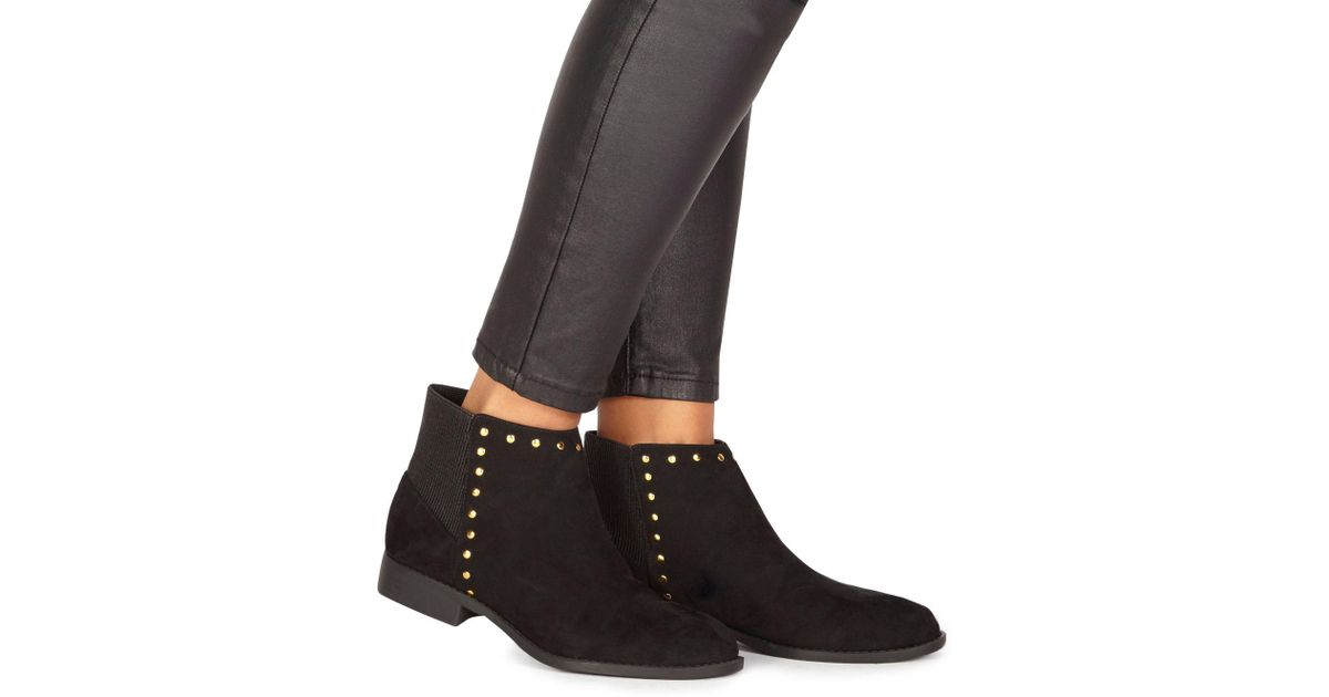 b1c2913f7b5 Faith Black Suedette  werlin  Wide Fit Ankle Boots in Black - Lyst