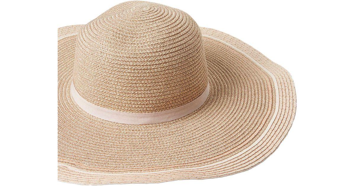 10e8e39a Dorothy Perkins Rose Gold Floppy Hat - Lyst