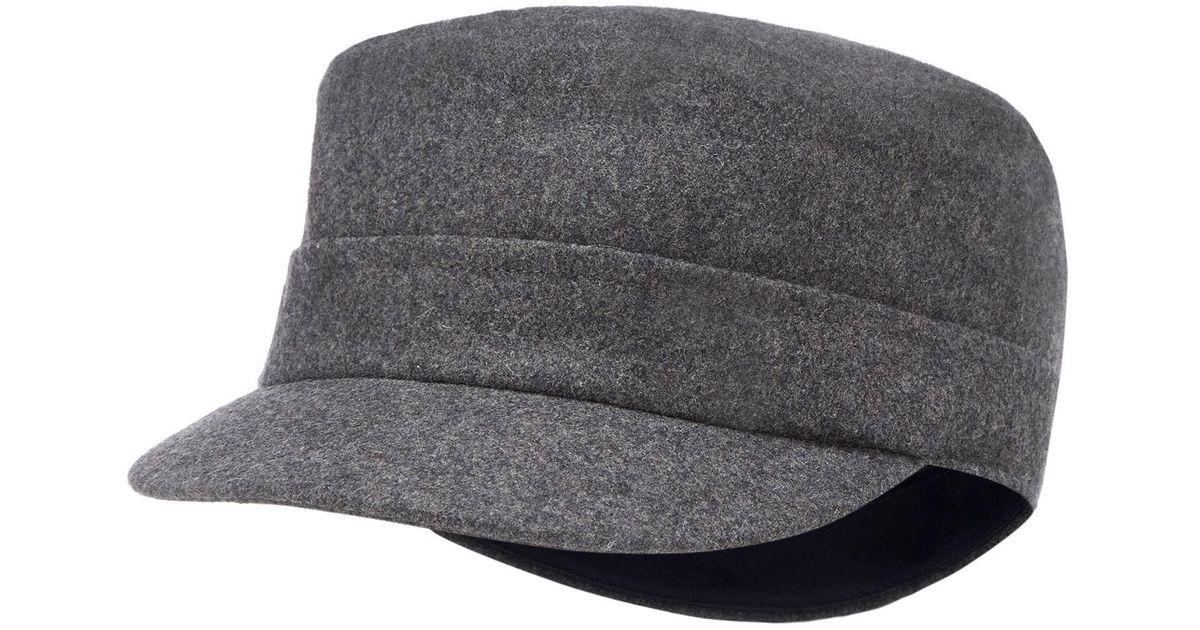 0d55b7027ca J By Jasper Conran Grey Train Driver Hat With Wool in Gray for Men - Lyst