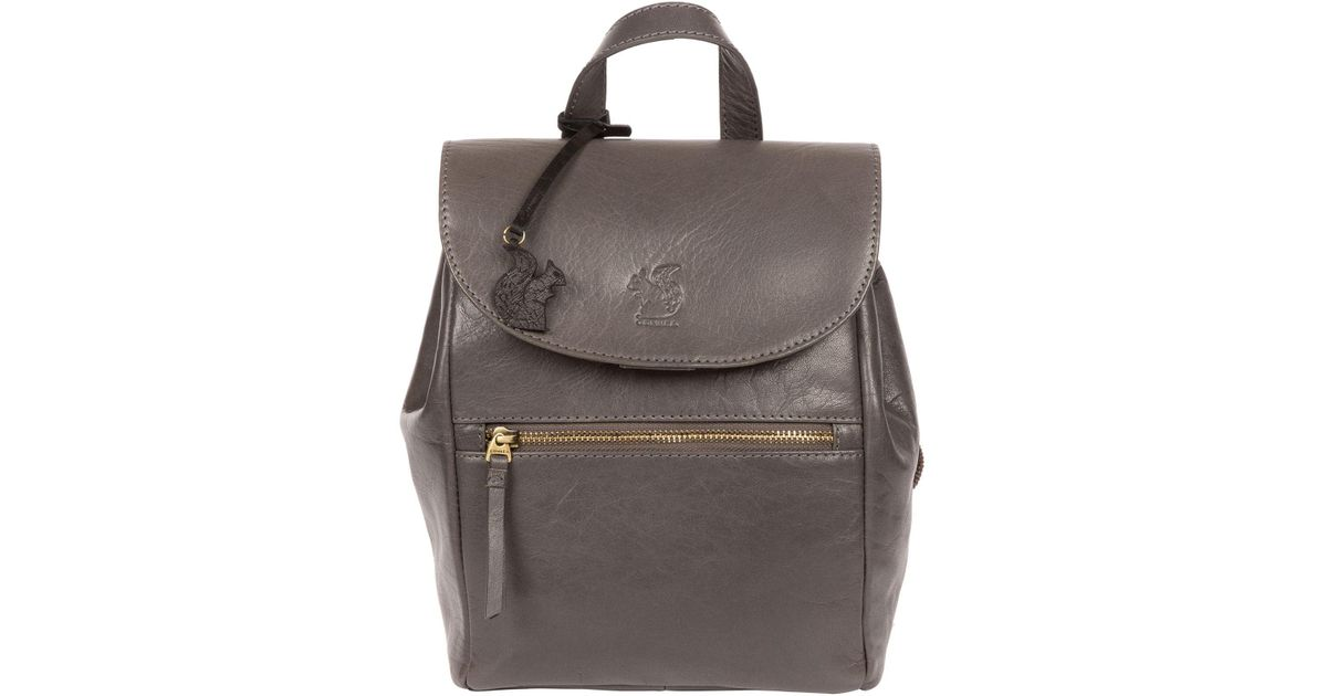 16c6c306bde3 Conkca London Slate  simone  Handcrafted Leather Backpack in Gray - Lyst